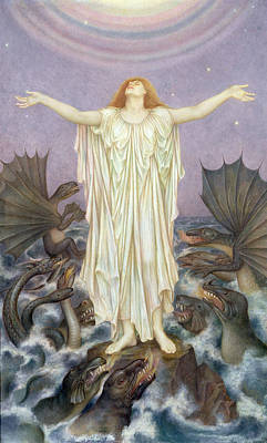 Painting - S.o.s. by Evelyn De Morgan