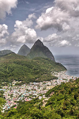 Photograph - Soufriere St Lucia And Pitons by Gary Slawsky
