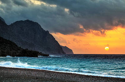 Photograph - Sougia Sunset by Paul Cowan