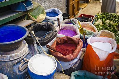 Photograph - Souk Dye Stall by Deborah Smolinske