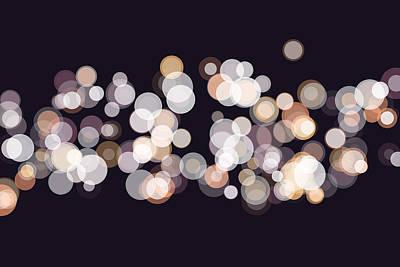 Retro Digital Art - Soul Bokeh Circle Pattern Horizontal by Frank Ramspott