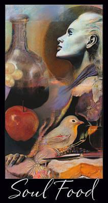 Soul Food - With Title And Dark Border Art Print by Brooks Garten Hauschild