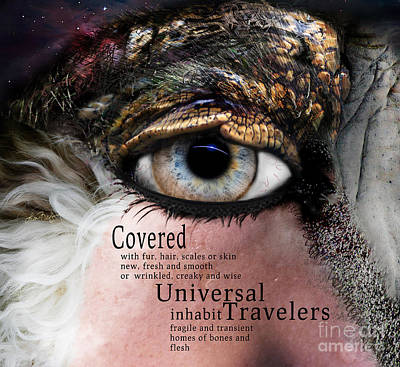 Digital Art - Soul Full Eye Of The Universal Traveler by Lisa Redfern