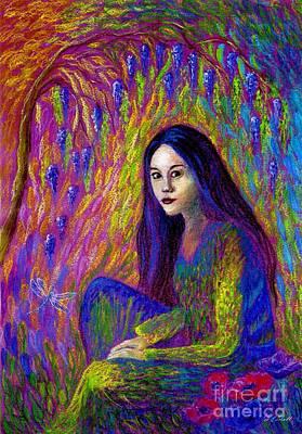 Mystical Landscape Painting - Soul Gaze by Jane Small
