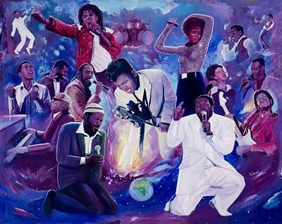 Michael Jackson Painting - Soul Heaven by Kolongi Brathwaite