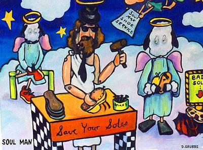 Shoe Repair Painting - Soul Man by Darlene Grubbs