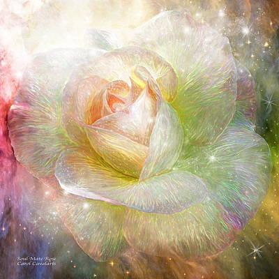 Mixed Media - Soul Mate Rose by Carol Cavalaris