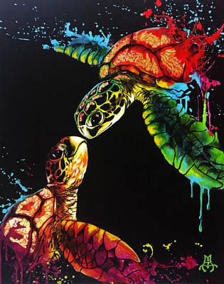 Soul Mates Art Print by Marco Antonio Aguilar