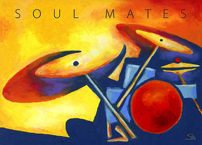 Painting - Soul Mates Poster by Stephen Anderson