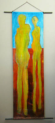 Painting - Soul Mates Wall Hanging by Tonya Schultz