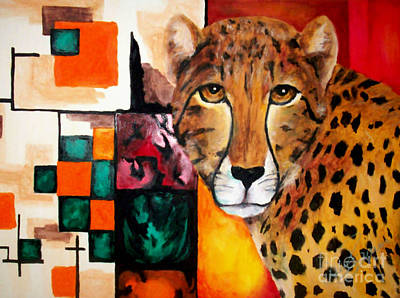 Cheetah Drawing - Soul Of The Cheetah by Ashley Bauer