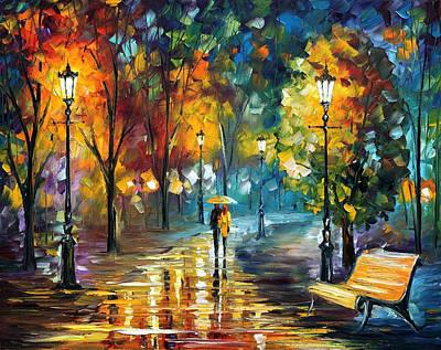 Soul Of The Rain - Palette Knife Oil Painting On Canvas By Leonid Afremov Original by Leonid Afremov