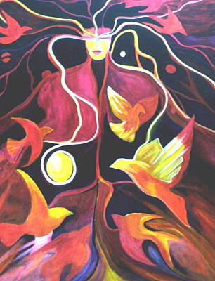 Soul Release Art Print by Carolyn LeGrand