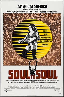 Rhythm And Blues Photograph - Soul To Soul, Us Poster, Tina Turner by Everett