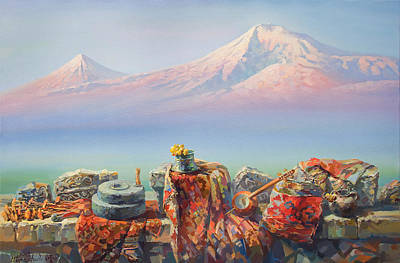Painting - Soulful And Colorful Ararat by Meruzhan Khachatryan