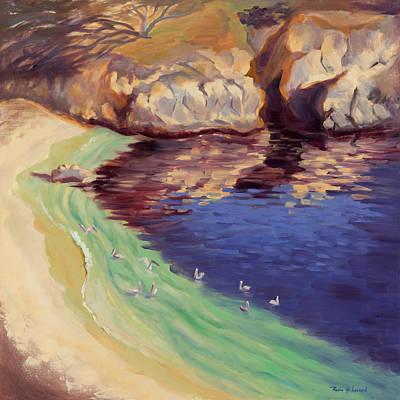 Point Lobos Painting - Soulful Sanctuary Point Lobos by Karin  Leonard