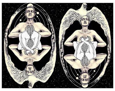 Tantra Drawing - Soulmate by Vanni Mangoni