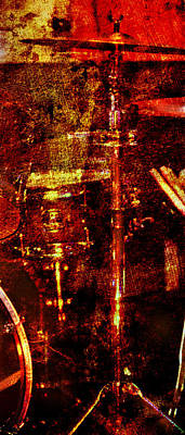 Photograph - Sound Bites Niche Art Drumset by Bob Coates