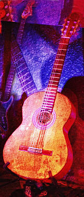 Photograph - Sound Bites Niche Art Guitars by Bob Coates