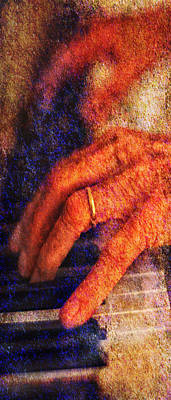 Photograph - Sound Bites Niche Art The Hands Of Joel by Bob Coates