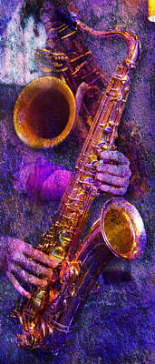 Photograph - Sound Bites Niche Stacked Sax by Bob Coates