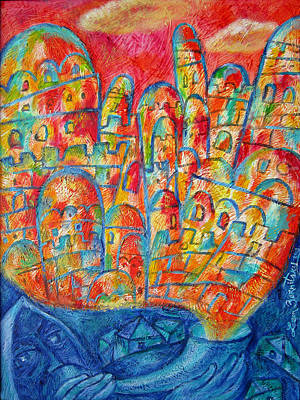 Jerusalem Painting - Sound Of Shofar by Leon Zernitsky