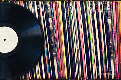 Musician Photos - Sound of vinyl by Delphimages Photo Creations