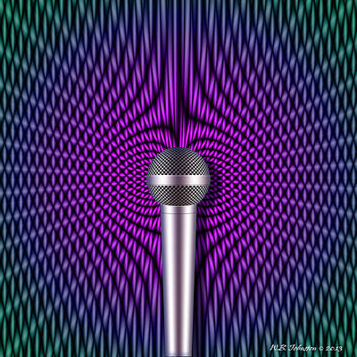 Microphone Digital Art - Sound Reinforcement 2 by WB Johnston