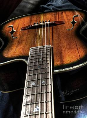 Sounding Off Digital Guitar Art Bt Steven Langston Art Print by Steven Lebron Langston
