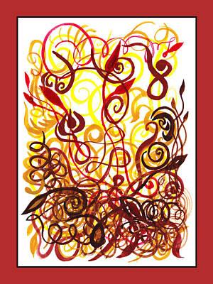 Painting - Sounds Of Color Doodle 3 by Irina Sztukowski