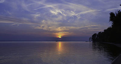 Photograph - Soundside Sunset by Bonnie Leigh Delar