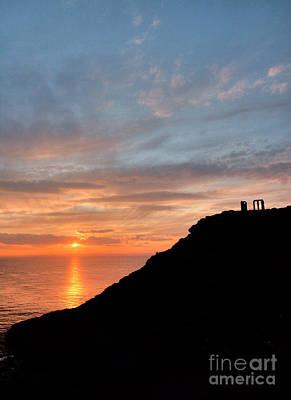 Photograph - Sounion Temple Of Poseidon Sunset by Deborah Smolinske