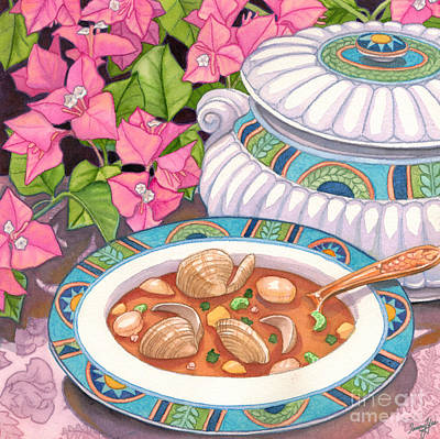 Soup And Bougainvillia Art Print by Tammy Yee