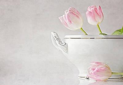 Soup Of Tulips Art Print by Claudia Moeckel
