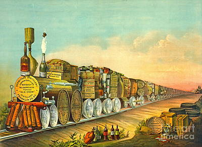 Sour Mash Express 1877 Art Print by Padre Art