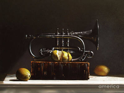 Traditional Still Life Painting - Sour Notes by Larry Preston
