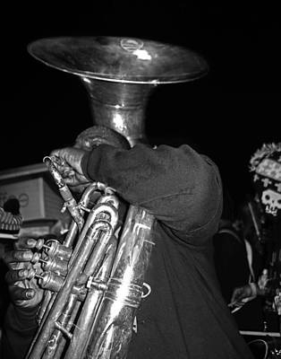 Sousaphone Wall Art - Photograph - Sousaphone Player In New Orleans by Louis Maistros