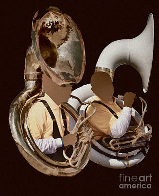 Photograph - Sousaphone Tuba Player by Donna Greene