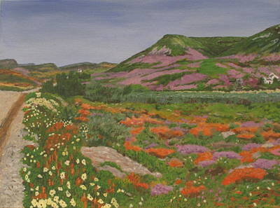Art Print featuring the painting South African Grasslands by Hilda and Jose Garrancho