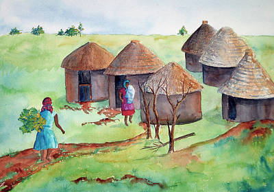 Painting - South African Village by Patricia Beebe