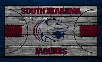 South Alabama Jaguars Art Print by Joe Hamilton