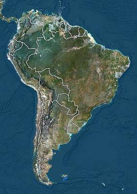 South America, Satellite Image Art Print by Science Photo Library