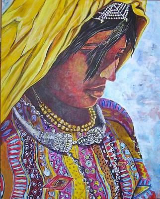 South American Woman Art Print by Linda Vaughon