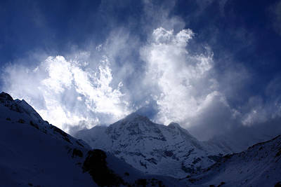 Photograph - South Annapurna Clouds by Aidan Moran
