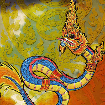 Chinese Dragon Painting - South Asian Symbolism  by Corporate Art Task Force
