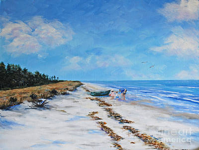 South Beach  Hilton Head Island Art Print by Stanton Allaben