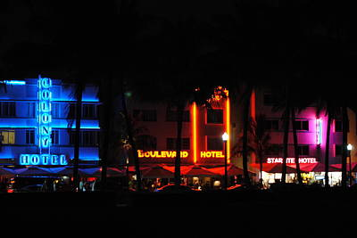 South Beach Hotels Art Print