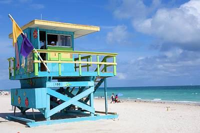 Photograph - South Beach Lifeguard by Jane Girardot