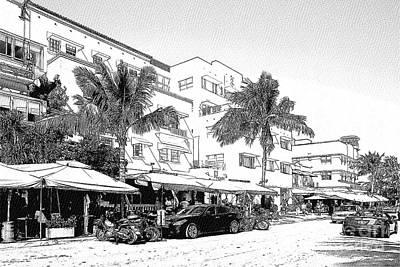 Car Photograph - South Beach Miami - Art Deco District by Les Palenik