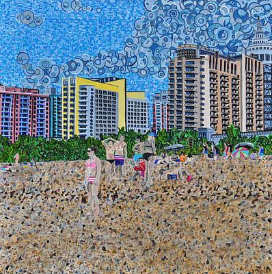 South Beach - Miami Print by Micah Mullen
